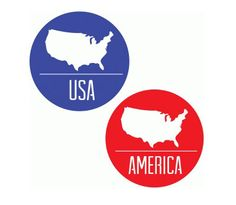 State Stickers / Badges , Events , Parties , USA , America , Mississippi , Montana , Michigan by PatchyPeanut on Etsy