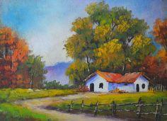 Resultado de imagen para pintura de paisaje acrilico