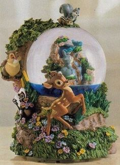 Bambi Waterfall Disney Snowglobe