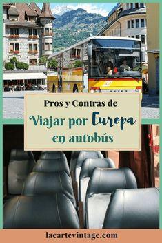 pros y contras de viajar por europa en autobús. la carte vintage