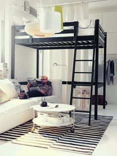 Ikea Small Spaces Living Room And Bedroom