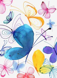 Des petits papillons qui célèbrent l'arrivée du printemps! Oeuvre signée Margaret Berg.  Venez nous visiter au Crackpot Café pour réaliser votre prochain projet de peinture sur céramique!