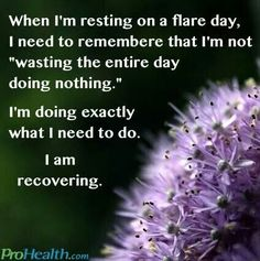 It's ok to have recovery days from chronic pain. It's a necessity for us....it's not for pleasure.