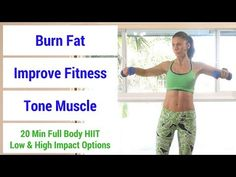 HIIT 20 minute full body HIIT workout to burn fat, build muscle, & increase fitness Hiit Workout Videos, Interval Training Workouts, Full Body Hiit Workout, Fat Burning Workout, Easy Workouts, Tabata, Muscle Tone, Build Muscle, Burns