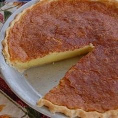 "Buttermilk Chess Pie I ""Delicious old fashioned ""comfort food"". I followed the recipe EXACTLY as written and it turned out AWESOME."""