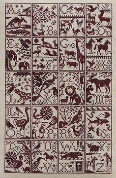Alphabet Zoo - cross stitch pattern by Blue Ribbon Designs Cross Stitch Borders, Cross Stitch Baby, Cross Stitch Alphabet, Cross Stitch Samplers, Cross Stitch Charts, Cross Stitch Designs, Cross Stitching, Cross Stitch Patterns, Embroidery Sampler