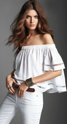 gorgeous summer outfits womens fashion clothes style apparel clothing closet ideas white top jeans