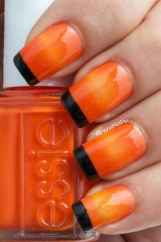 31 Day Challenge 2013 (31DC2013) orange nail art