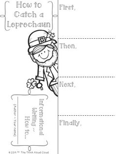 FREEBIE How to Catch a Leprechaun ~ Writing Activity {St.