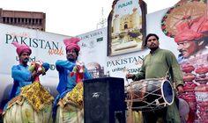 ISLAMABAD: Folk musicians performing to entertain the visitors during Pakistan Week at Lok Virsa.