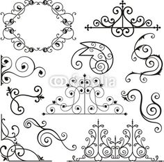 Wrought Iron Ornamental Designs - Buy this stock vector and explore similar vectors at Adobe Stock Toilet Paper Roll Art, Rolled Paper Art, Arte Quilling, Paper Quilling, Quilling Patterns, Quilling Designs, Iron Art, Design Poster, Ornaments Design