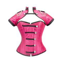 Pink Corset with Button Down Placket and Jacket OMG this is soooo me!!