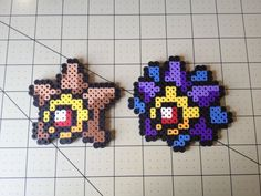 Pokemon Bead Sprite Set  Staryu Family by ToughTurtles on Etsy, $5.50