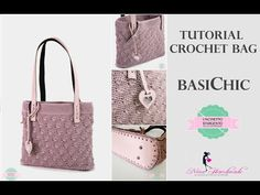 TUTORIAL CROCHET BAG | BASICHIC | WITH SUB | PUNTO MADELINE | UNCINETTO D'ARGENTO & NINA HANDMADE - YouTube