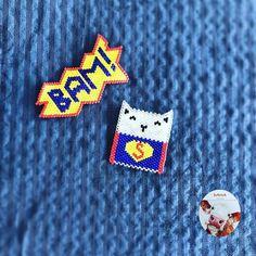 O bir kuş! Hayır o bir uçak! Hayır hayır o süperkedi #danaaccessories #miyuki #miyukibroş #miyukibrooch #broş #miyukiaddict #beaded #peyote #action #aksiyon #bam #superman #supercat #kedi #cat #instacat #catsofinstagram #blue #mavi #handmade #elyapımı #elemeği #jewellery #takı #taktakıştır #marvel #instakedi cat pattern by @lulu_and_the_litte_pea