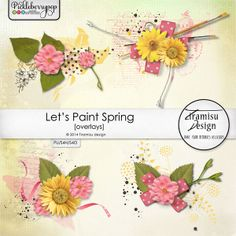 Available for just $1 during Pickleberrypop's PICKLE BARREL PROMO through March 24 at 11:59 p.m. EDT! Shop fast to save BIG! Let's Paint Spring overlays pack by Tiramisu design