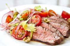 Flank Steak with Bloody Mary Tomato Salad Another one I have made and ...
