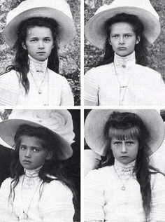 Olga Nikolaevna, Tatiana Nikolaevna, Maria Nikolaevna, and Anastasia Nikolaevna