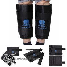 Juego de Calentadores Moto Para Rodillas Ajustables con Peso Color Negro -- 15,46€
