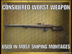 I actually want this in the game for cosmetic purposes ( mosin nagant + Barret.50)