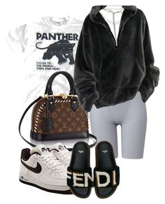 """""""// 17 B L A C K"""" by beckybaaaaby ❤ liked on Polyvore featuring Uniqlo, Christian Dior, Chanel, NIKE and Fendi"""