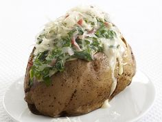 Ham-and-Spinach Spuds Recipe : Food Network Kitchen : Food Network - FoodNetwork.com