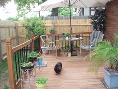 7. Backyard project - the deck 2010