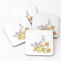 'Floral art' Coasters by Table Coasters, Pattern Design, Floral Design, My Arts, Tropical, Art Prints, Printed, Awesome, Illustration