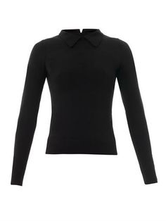 Point-collar fitted sweater | Azzedine Alaïa | MATCHESFASHION.COM