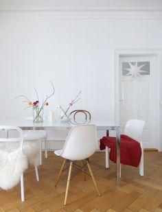 Wohnen, Dekoration, Januar, Esstisch, Sitzen, Stuhl, Haus, Eames
