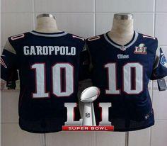 ae1f78dc1a6 Nike Patriots Jimmy Garoppolo Navy Blue Team Color Super Bowl LI 51 Men s  Stitched NFL Elite Jersey And Taco Charlton 97 jersey