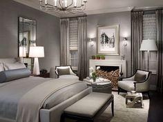 Couple bedroom grey design... #elegant #bed #sophisticated
