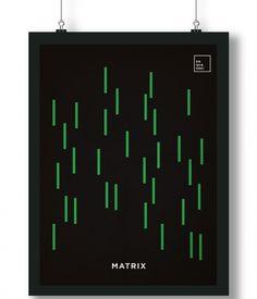 Pôster/Quadro minimalista Matrix