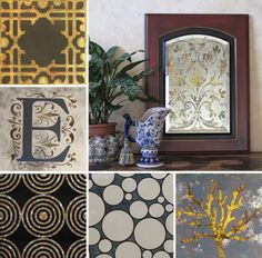 53 Best Glass Mirror Stenciling Images Painting