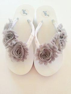 00e60cb127e64 Wedding Flip Flops Wedges Sandals For Bride.Bridal Flip Flops.