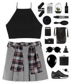 """Gigi"" by nauditaolivia ❤ liked on Polyvore featuring rag & bone, NIKE, Yves Saint Laurent, Pieces, Ryan Roche, BLACK BROWN 1826, Sephora Collection, Alexander McQueen, Tiffany & Co. and Monki"