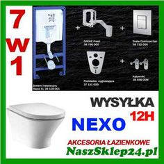 Zestaw Grohe 5w1 + Nexo miska A346640 + deska wolnoopadajaca A801330N04