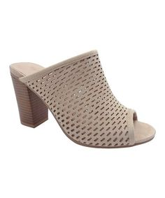 2f0d40e08f1 Natural Jamie Stacked-Heel Mule - Women by Wild Diva  zulily  zulilyfinds  Heeled