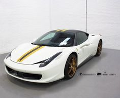 Ferrari 458 Italia with 3M Matte Dark Grey roof & sill wrap + yellow & grey Ferrari style racing stripe.   #‎Ferrari #‎458Italia #‎3M #‎3M1080 #‎3MMatteDarkGrey #‎Stripes #‎Transformation #‎VWC  #‎Leeds #‎thevehiclewrappingcentre #‎vehiclewrapping #‎vinylwraps #‎vinyl #‎wraps #‎wrapping #‎carwrap #‎carwrapping #‎customwraps #‎tints #leeds #‎manchester #‎wrapkings #‎wrappedchannel #‎wrapworld #‎wraplocator #‎3MAVW #‎3MWrapsUK 3MWrapsUK