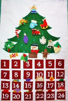 Felt Advent Calendar- via Etsy.