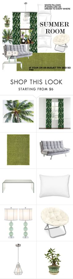 """""""Summer cool room"""" by lauralydix ❤ liked on Polyvore featuring interior, interiors, interior design, home, home decor, interior decorating, Coaster, L.L.Bean, Safavieh and Modern Sprout"""