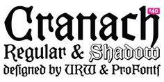 Cranach #font ideal for #halloween http://www.t26.com/fonts/11122-Cranach