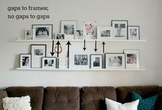How to arrange items on shelves, IKEA picture ledges, photo gallery tips – bilderrahmen Ikea Photo Ledge, Photo Ledge Display, Ikea Picture Shelves, Ikea Photo Frames, Photo Shelf, Picture Wall, Picture Ledge Bedroom, Home Design, Mosslanda Picture Ledge