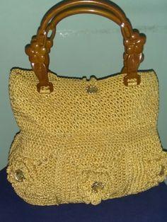 Crochet flower bag