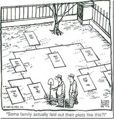 Some family actually laid out their plots like this.