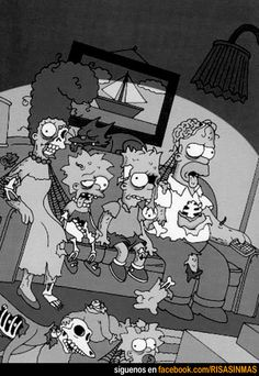 Los Simpsons zombies.