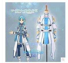 El Envío Gratuito! las más! espada de Arte En Línea 2 Asuna Yuuki Cosplay Uniforme, Personalizado perfecto Para usted!