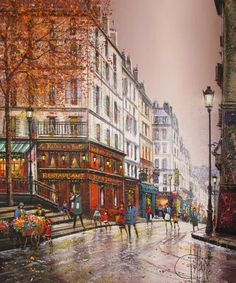 Fine Art and You: Guy Dessapt | Paris Autumn | French Painter | 1938