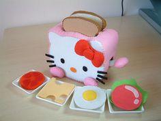 toast and Hello Kitty toaster...by fairyfox