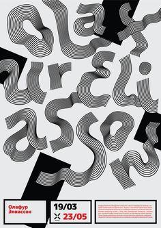 Contemporary art poster by Inessa Kamardina, via Behance